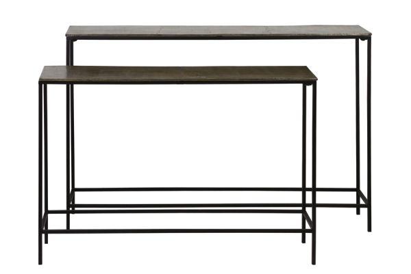 Konsolen-Tisch Tokyo 2er Set Metall braun