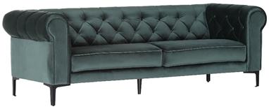 Sofa Garnitur Wateloo Bezug Samt grün