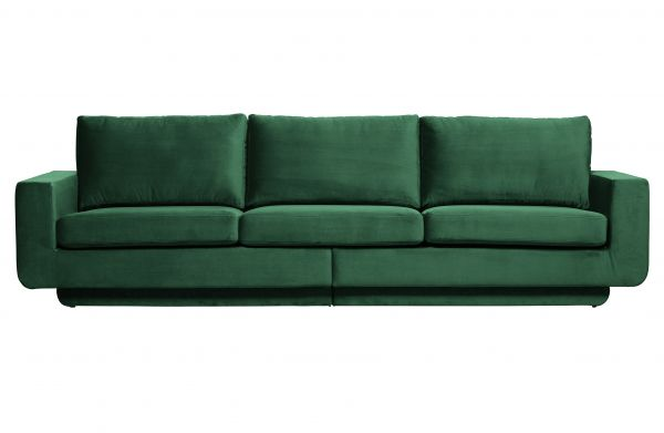 3-Sitzer Sofa Fame Bezug Velvet grün