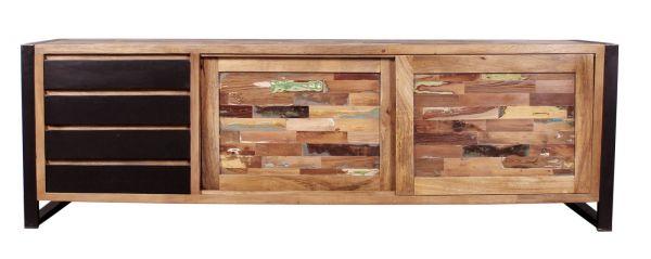 Sideboard Mox Korpus Holz Gestell Metall