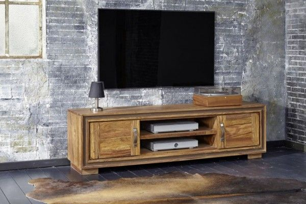 TV Lowboard Sina mit 2 Türen Sheesham-Holz