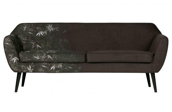 Sofa Rocco Bezug Samt mit Bambus Muster