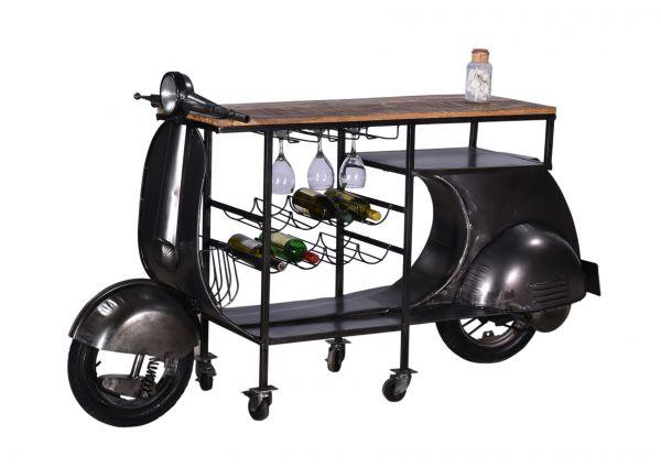 Scooter-Bar Vespa Unikat schwarz Vintage