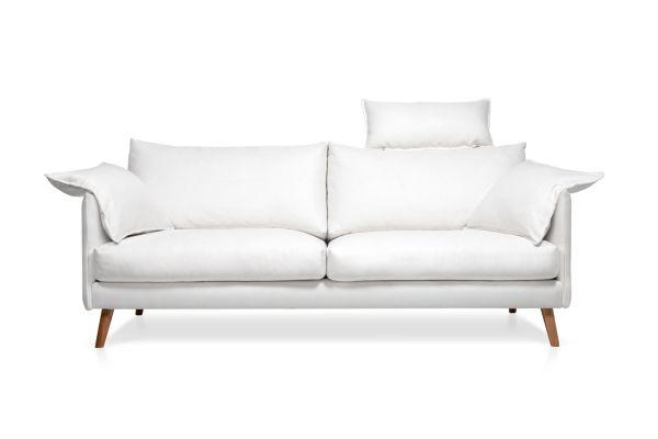 3-Sitzer Sofa Cumulus Stoff weiß
