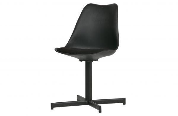 Stuhl Flow 2er Set Schale und Gestell schwarz