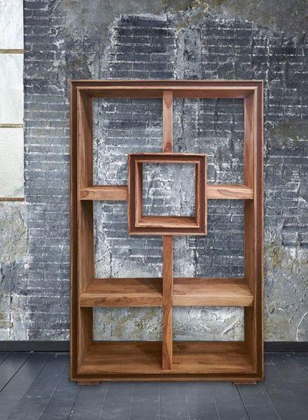 Raumteiler-Regal Sheesham-Holz Massiv