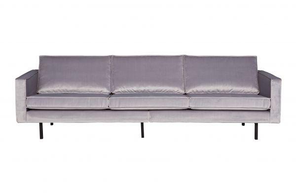 3-Sitzer Sofa Rodeo Bezug Velvet hellgrau