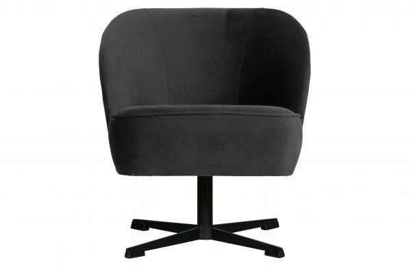 Sessel Vogue Bezug Samt schwarz