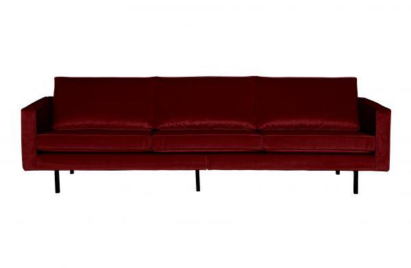 Sofa Rodeo 2,5 oder 3- Sitzer Bezug Samt rot Beine schwarz