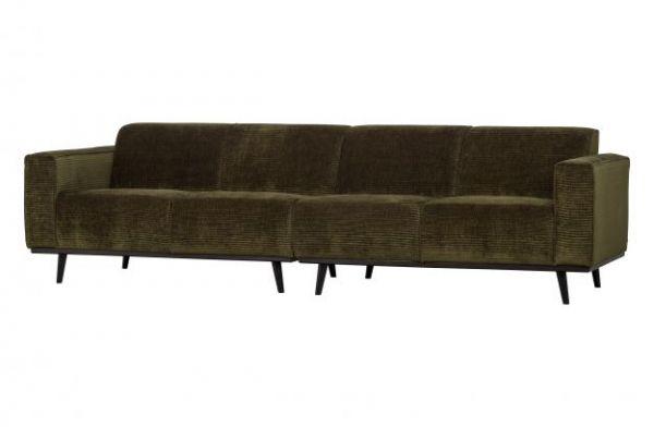 4-Sitzer Sofa Statement Bezug Flachrippe grün