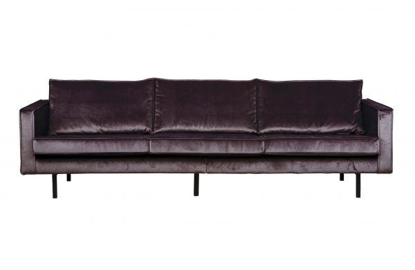3-Sitzer Sofa Rodeo Bezug Samt grau