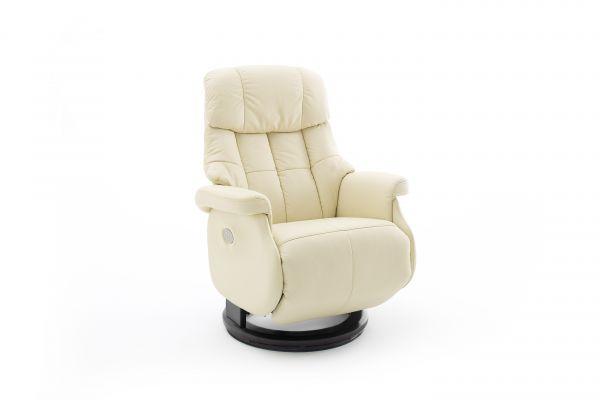 Relaxsessel CALGARY COMFORT Relaxer XL Elektrisch Leder creme