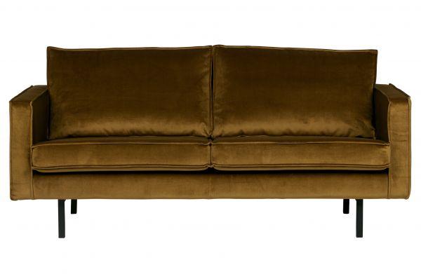 Sofa Rodeo Bezug Velvet gelb Beine schwarz