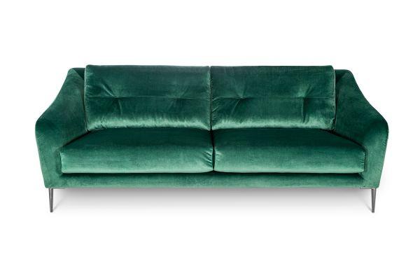 Sofa Edmund Bezug grün Beine MEtall