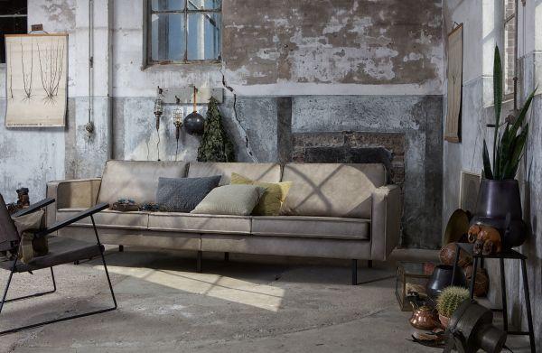 3-Sitzer Sofa Rodeo Bezug Stoff grau