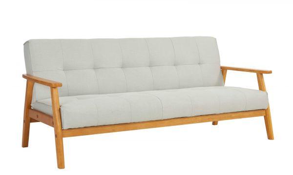 Schlafsofa grau ausklappbar skandinavisch Design