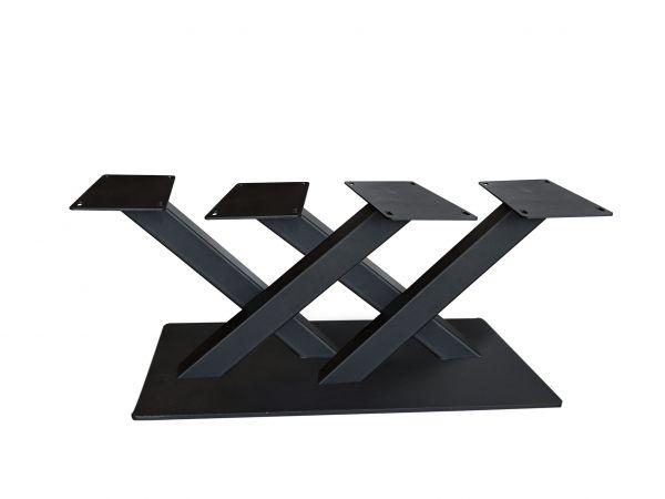 Tischgestell Bigfoot Double X Stahlblank