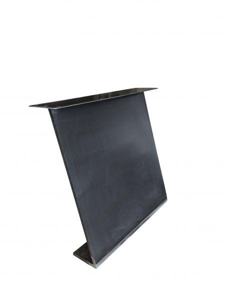 Tischgestell Z Massiv Eisen 2er Set Blankstahl
