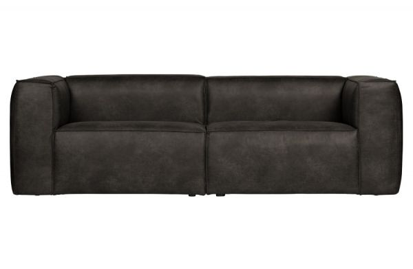 Sofa 3-Sitzer Bean Bezug Eco Leder schwarz