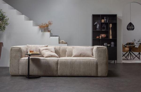 3,5 Sitzer Sofa Bean Bezug Ribcord Travertin