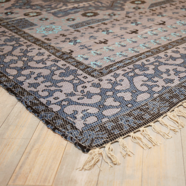 Teppich VICTORIA 160 X 230 cm blau-grau Vintage