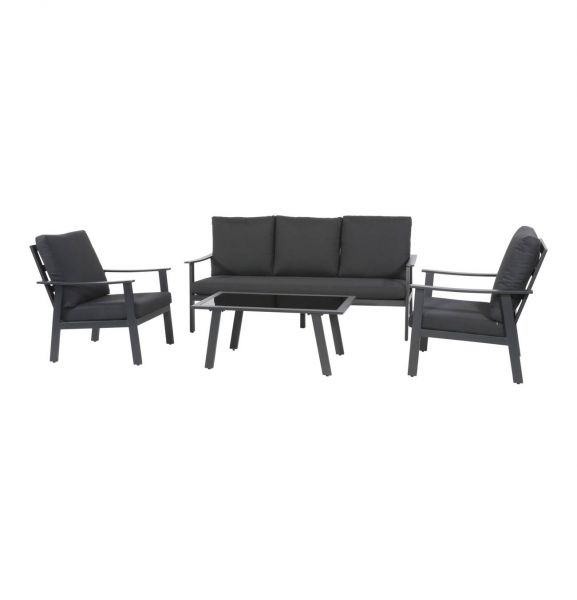 Outdoor Lounge Set Bacardi schwarz
