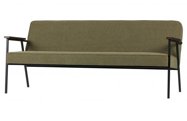 Sofa-Bank Elizabeth Bezug Stoff olive grün
