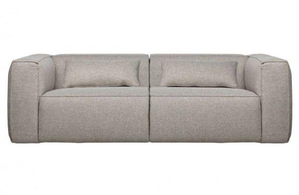3-Sitzer Sofa Bean Stoff hellgrau