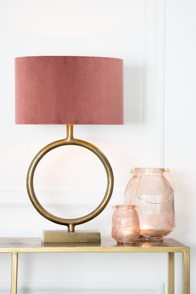 Tischlampe Liva Schirm rosa Fuß