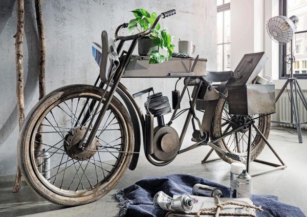 Motor-Bike Bar mit Seitenboxen Vintage Metall