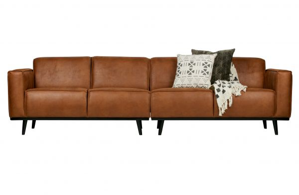XL Sofa Statement 4-Sitzer Bezug Eco Leder cognac