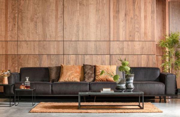 XL Sofa Statement 4-Sitzer Bezug Microfaser schwarz