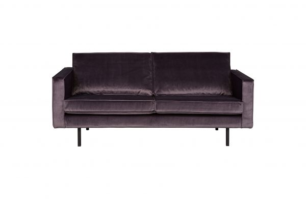 Sofa Rodeo 2,5 Sitzer Bezug Samt dark gray