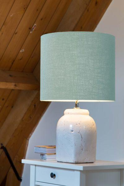 Tischlampe Hekla Keramik Fuß Schirm mint