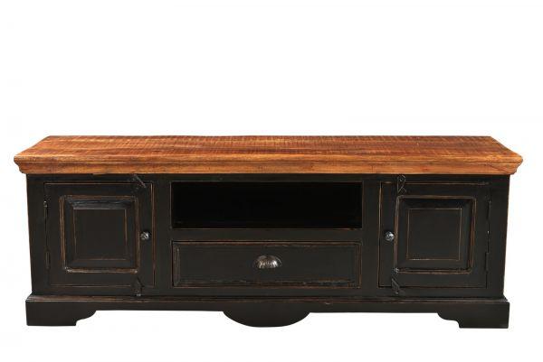TV Lowboard CORSICA Mango-Holz schwarz