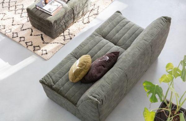 Lounge-Sofa Bag Bezug Samt sand