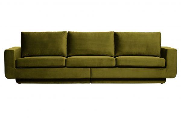 3-Sitzer Sofa Fame Bezug Velvet olive