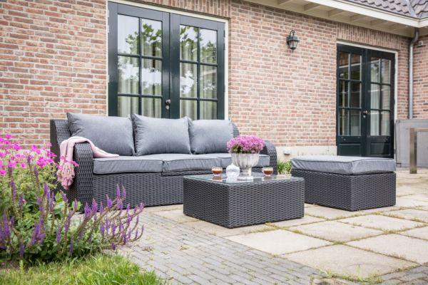 Outdoor Multibank Lounge Pandora schwarz