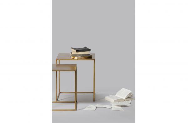 Beistelltisch Ziva 2er Set Metall gold