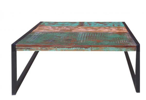 Beitelltisch Bali Platte Holz Vintage bunt