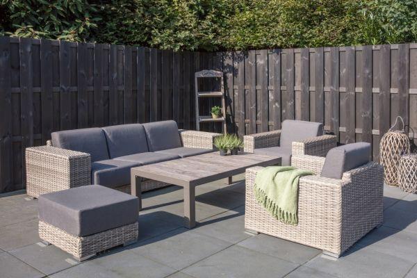 Outdoor Lounge Set London mit Schiebesystem