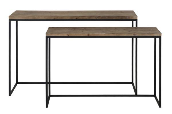 Konsolen-Tish Camasca Metall schwarz Platte Holz