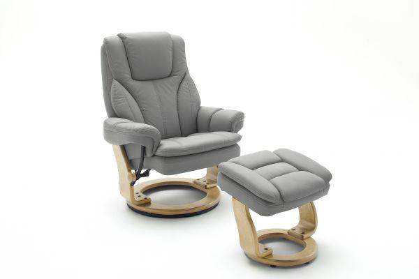 Relaxsessel MEMPHIS Relaxer XL Bezug Leder grau