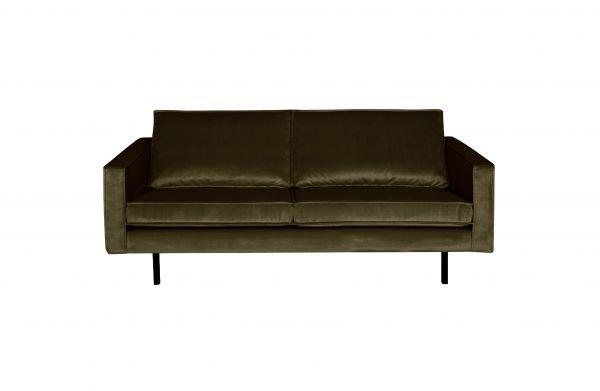 2,5-Sitzer Sofa Rodeo Bezug Samt in 14 Farben Beine schwarz