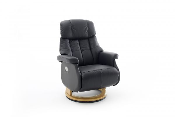 Relaxsessel CALGARY COMFORT Relaxer XL Elektrisch Leder schwarz