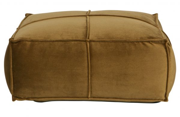 Puf-Hocker Honey honiggelb 60x60 cm