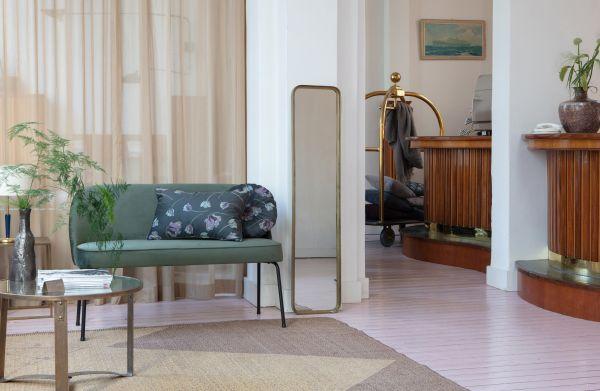 Sofa-Bank Vogue Samt grün
