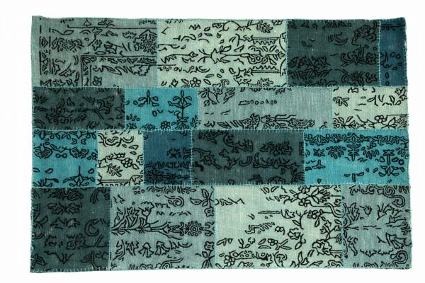 Teppich Lux Wolle Blau Rucken Latex Deko Mobelwerk