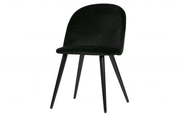 Stuhl Fay 2er Set Bezug Samt schwarz