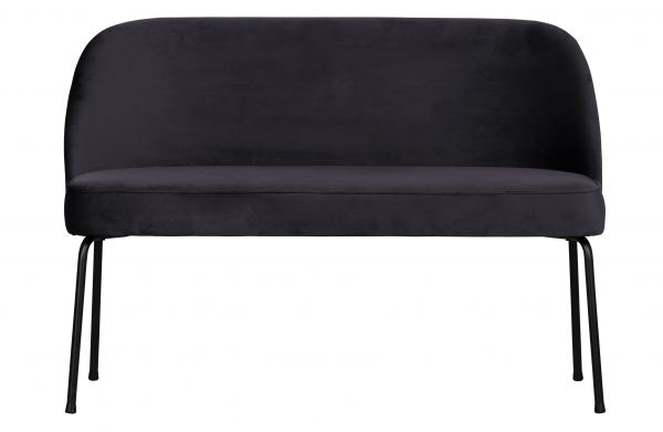 Sofa-Bank Vogue Samt schwarz